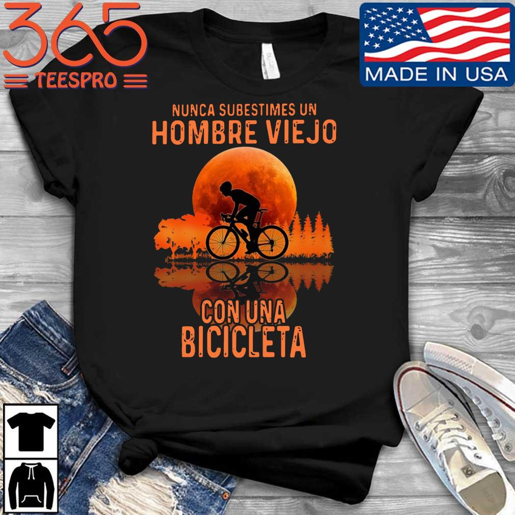 Nunca subestimes un hombre viejo con una bicicleta sunset shirt
