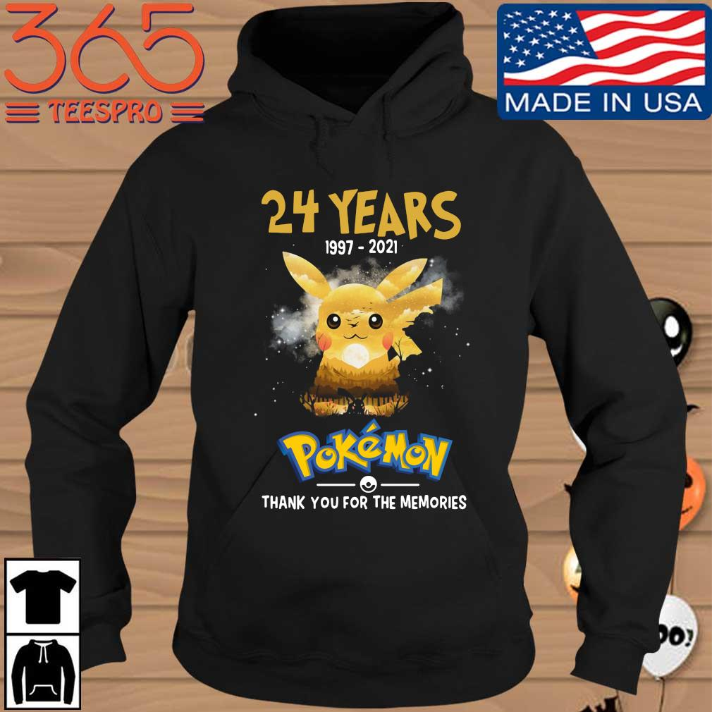 Official 24 years 1997-2021 Pokemon thank you for the memories Hoodie den