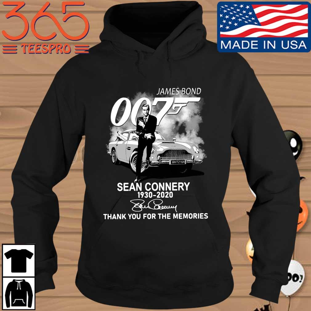 Official James Bond 007 Sean Connery 1930-2020 thank you for the memories signature Hoodie den
