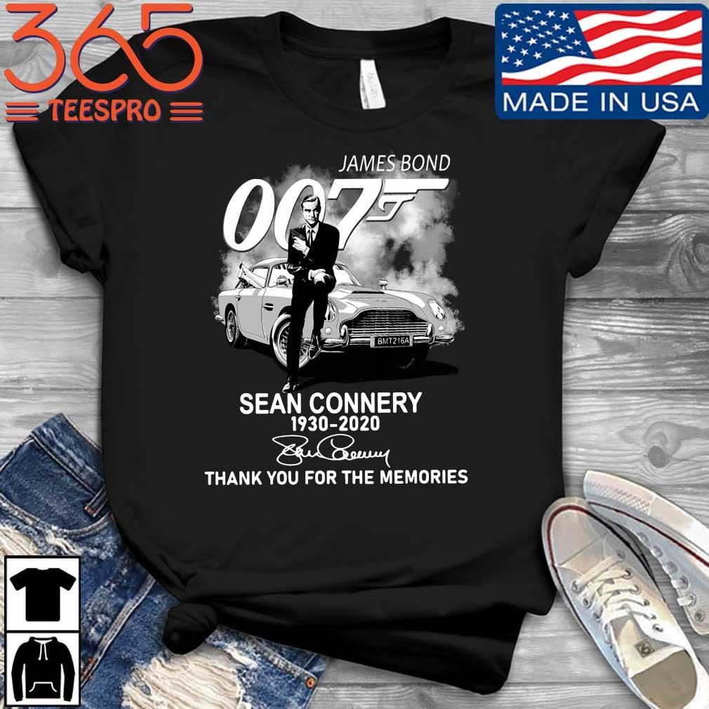 Official James Bond 007 Sean Connery 1930-2020 thank you for the memories signature shirt