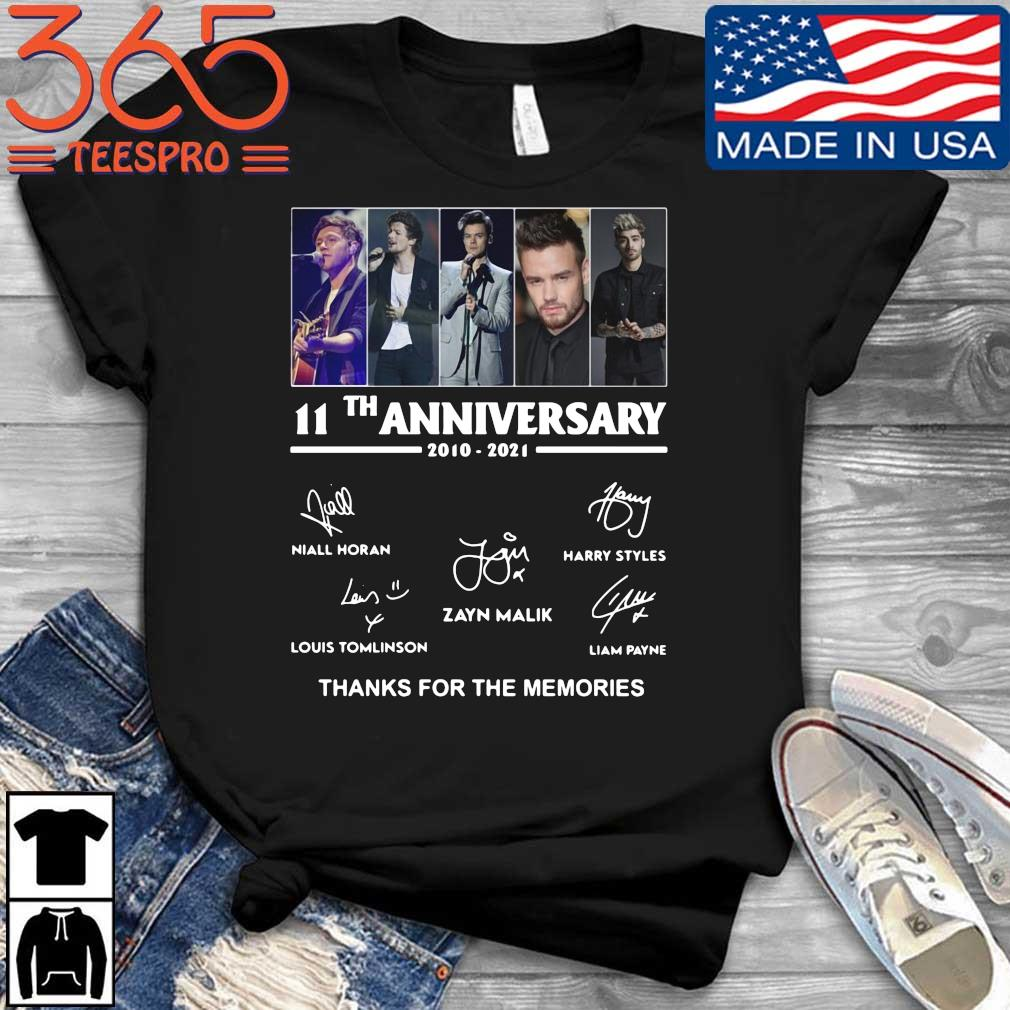 One Direction 11th anniversary 2010 2021 thanks for the memories signatures shirt