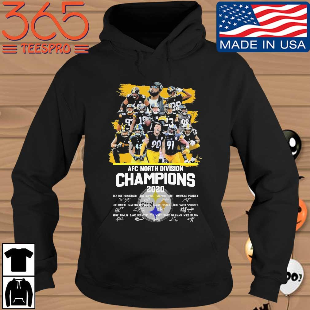Pittsburgh Steelers AFC North Division Champions 2020 Signatures Shirt Hoodie den