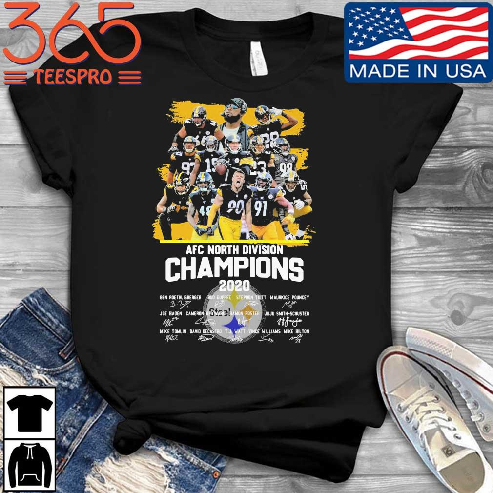 Pittsburgh Steelers AFC North Division Champions 2020 Signatures Shirt