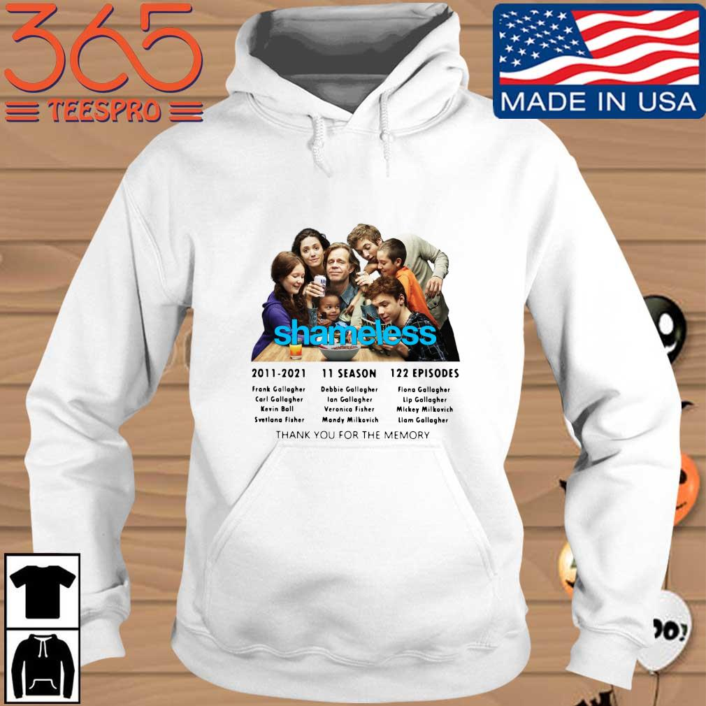 Shameless 2011-2021 11 season 122 episodes thank you for the memories Hoodie trang