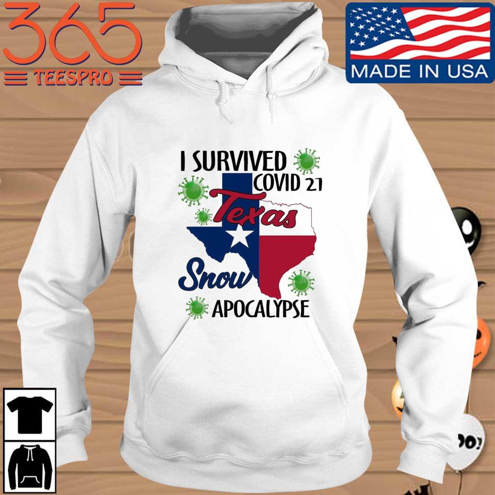 I survived Covid-21 snow apocalypse Texas Hoodie trang