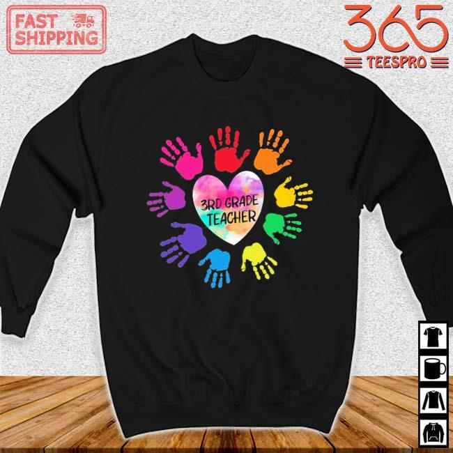 Hands Heart 3rd Grade Teacher Color Shirt Sweater den