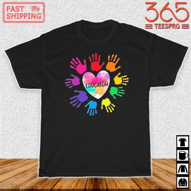 Hands Heart Educator Color Shirt