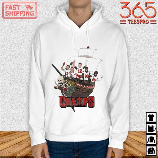 Tampa Bay Buccaneers Team Players Pirates Champs Shirt Hoodie trang