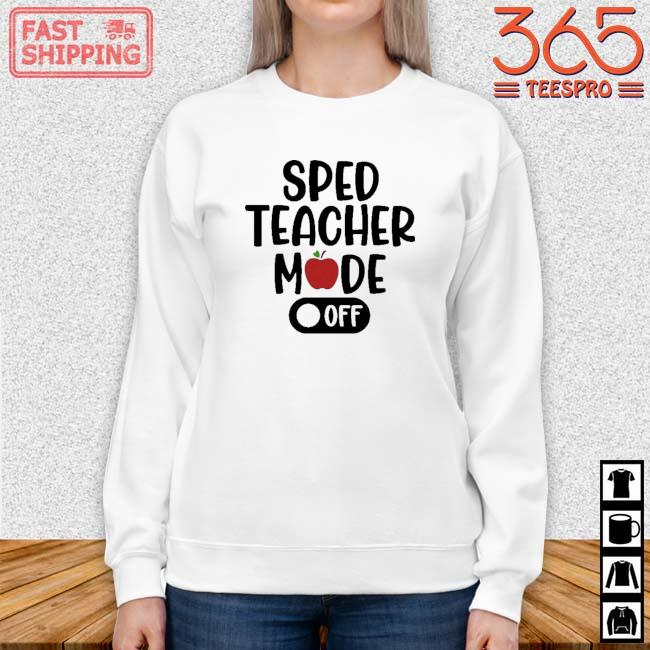 Sped teacher mode off Sweater trang