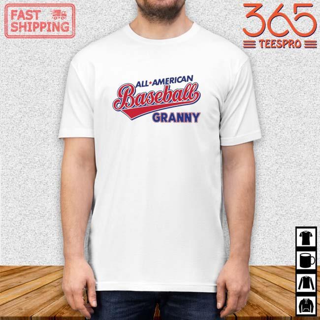 All American Baseball Granny Shirt