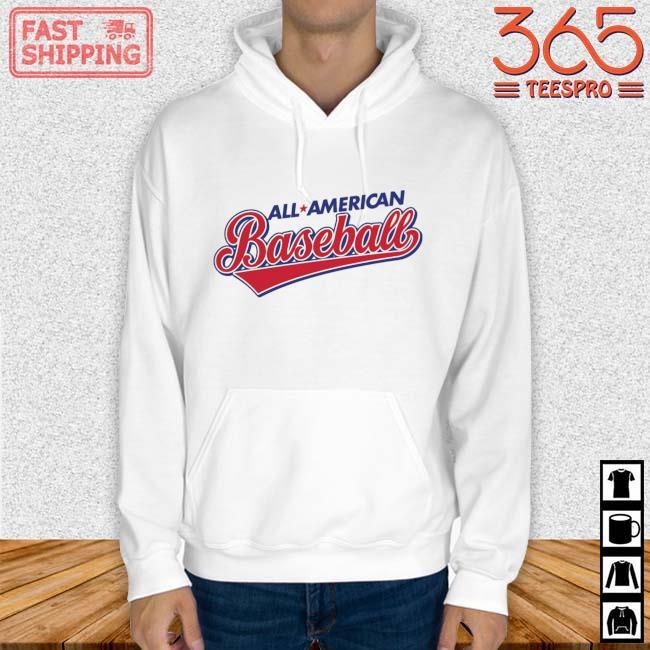 All American Baseball Shirt Hoodie trang