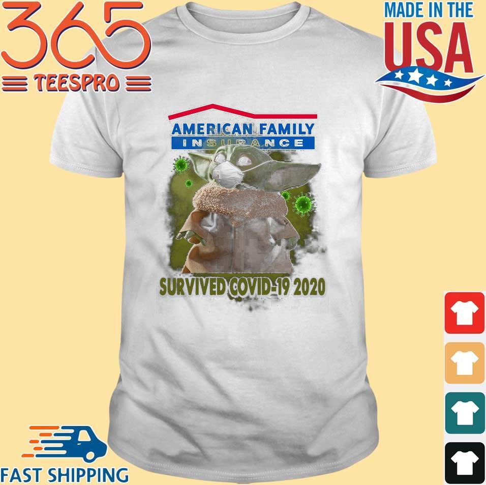 Baby Yoda American family insurance survived covid-19 2020 shirt