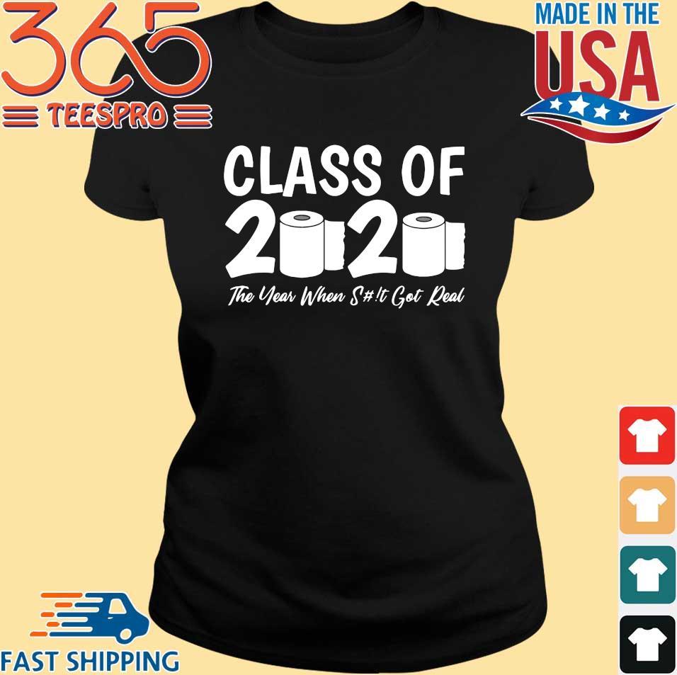 Class Of 2020 Graduation Senior Virus Flu Toilet Paper Shirts Ladies den