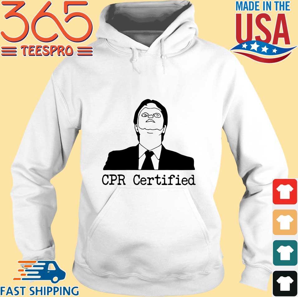 Dwight Schrute CPR Certified Shirt Hoodie trang
