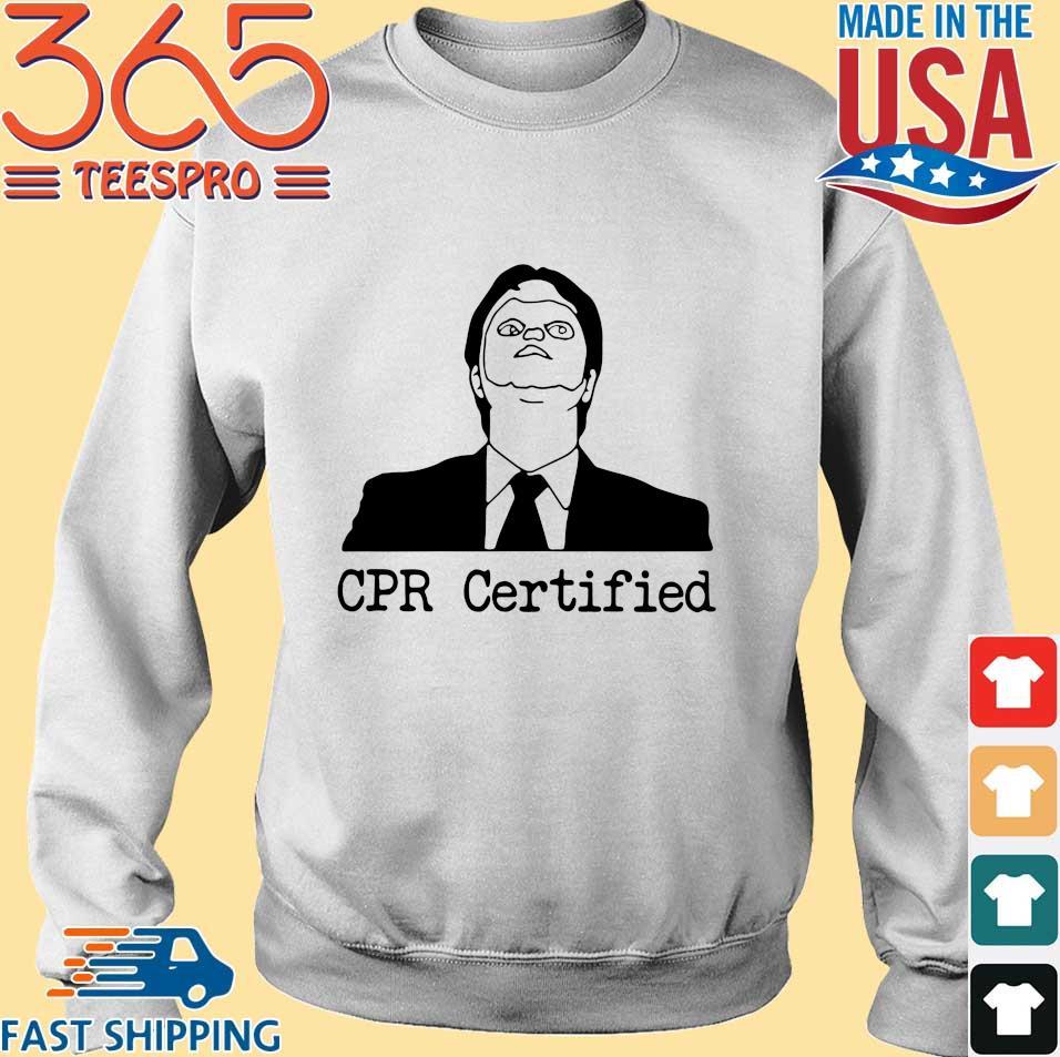 Dwight Schrute CPR Certified Shirt Sweater trang