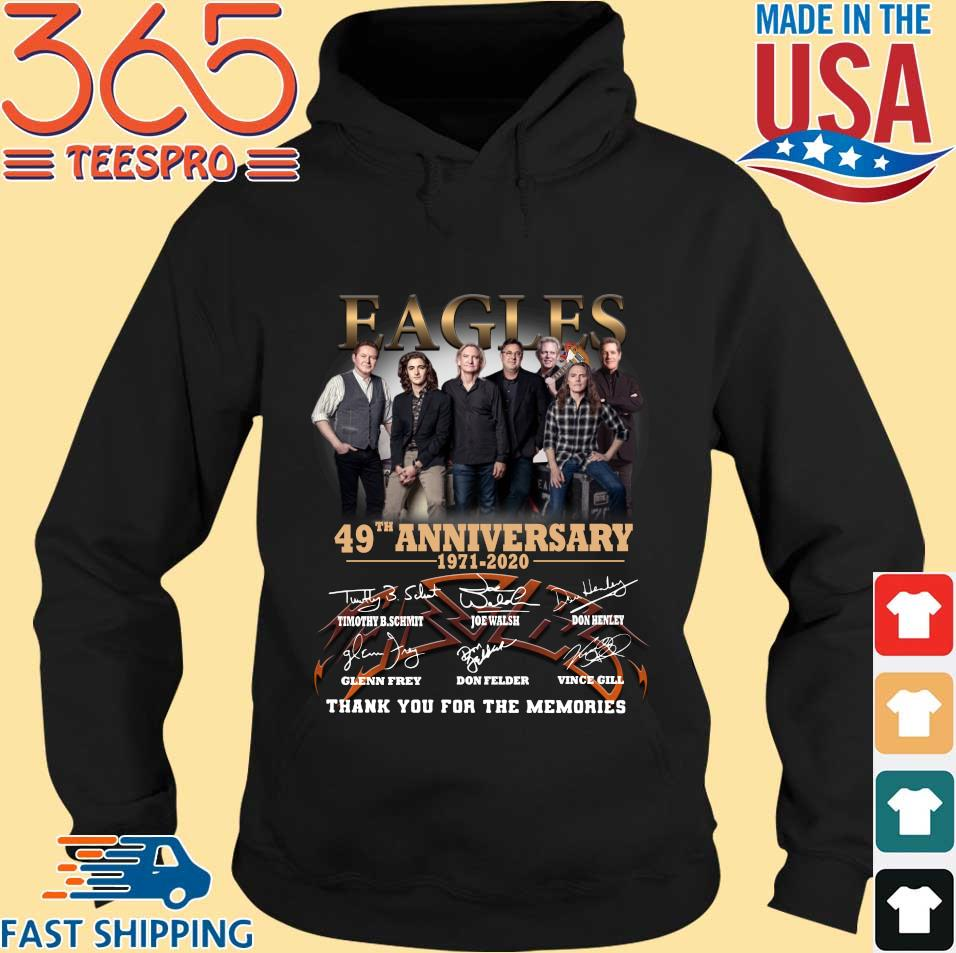 Eagles 49th Anniversary 1971-2020 Signatures Thank You For The Memories Shirt Hoodie den