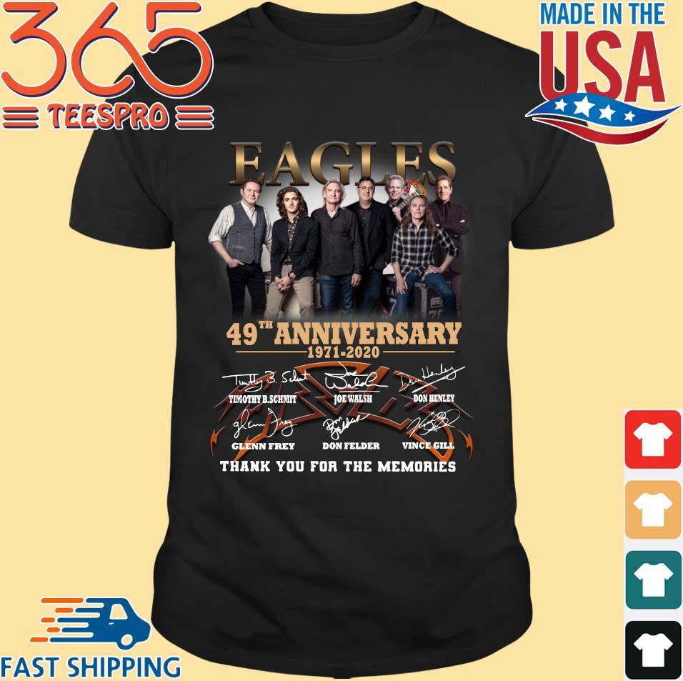 Eagles 49th Anniversary 1971-2020 Signatures Thank You For The Memories Shirt