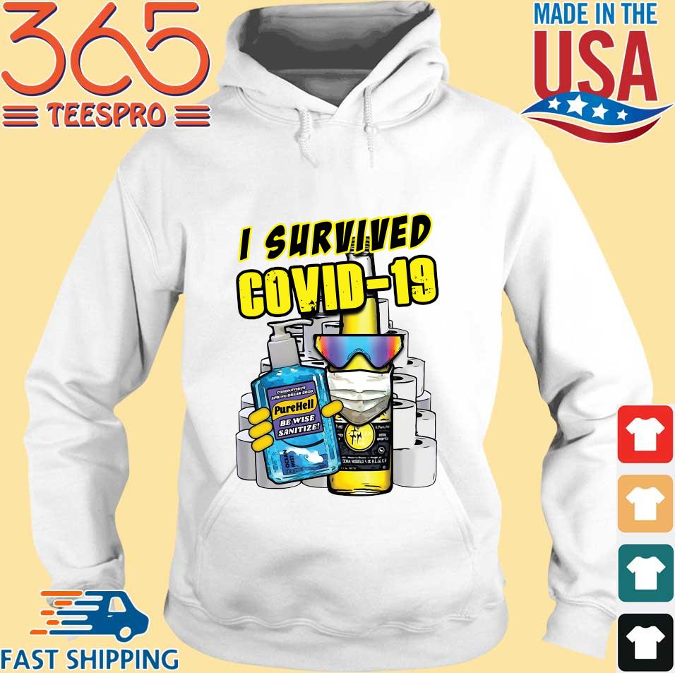 I Survived Covid-19 Pure Hell Shirt Hoodie trang