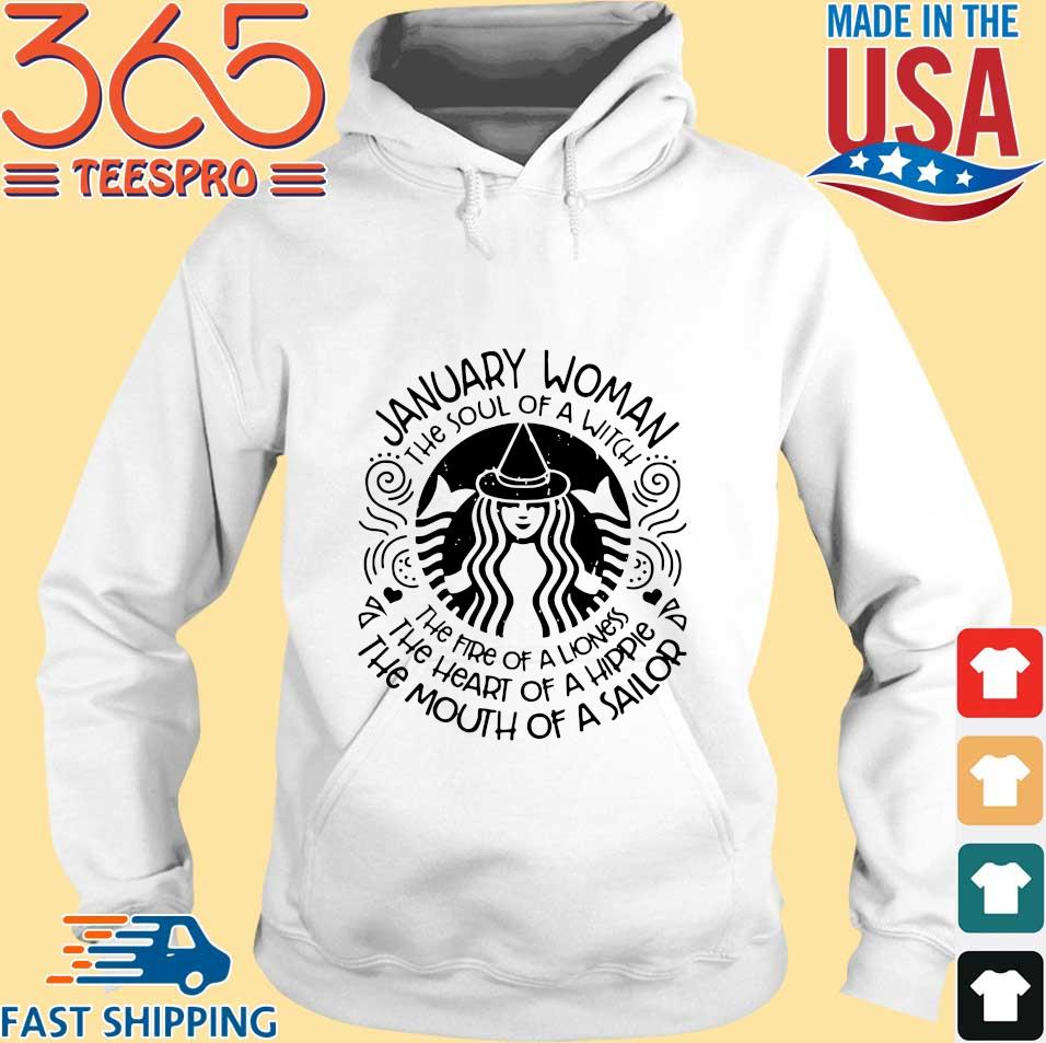 Starbucks January woman the soul of a witch the fire of a lioness s Hoodie trang