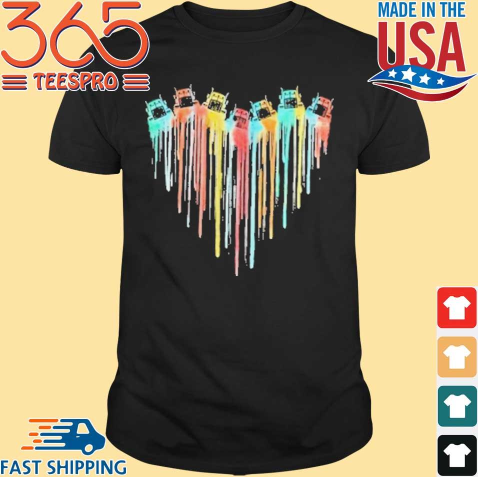 Colorful Tractor Heart shirt