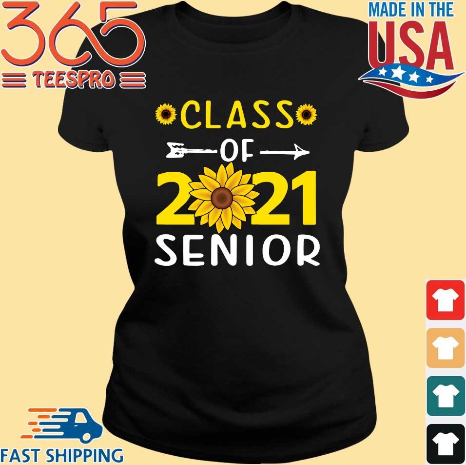 Class of 2021 senior back to school uniex sunflower shirt