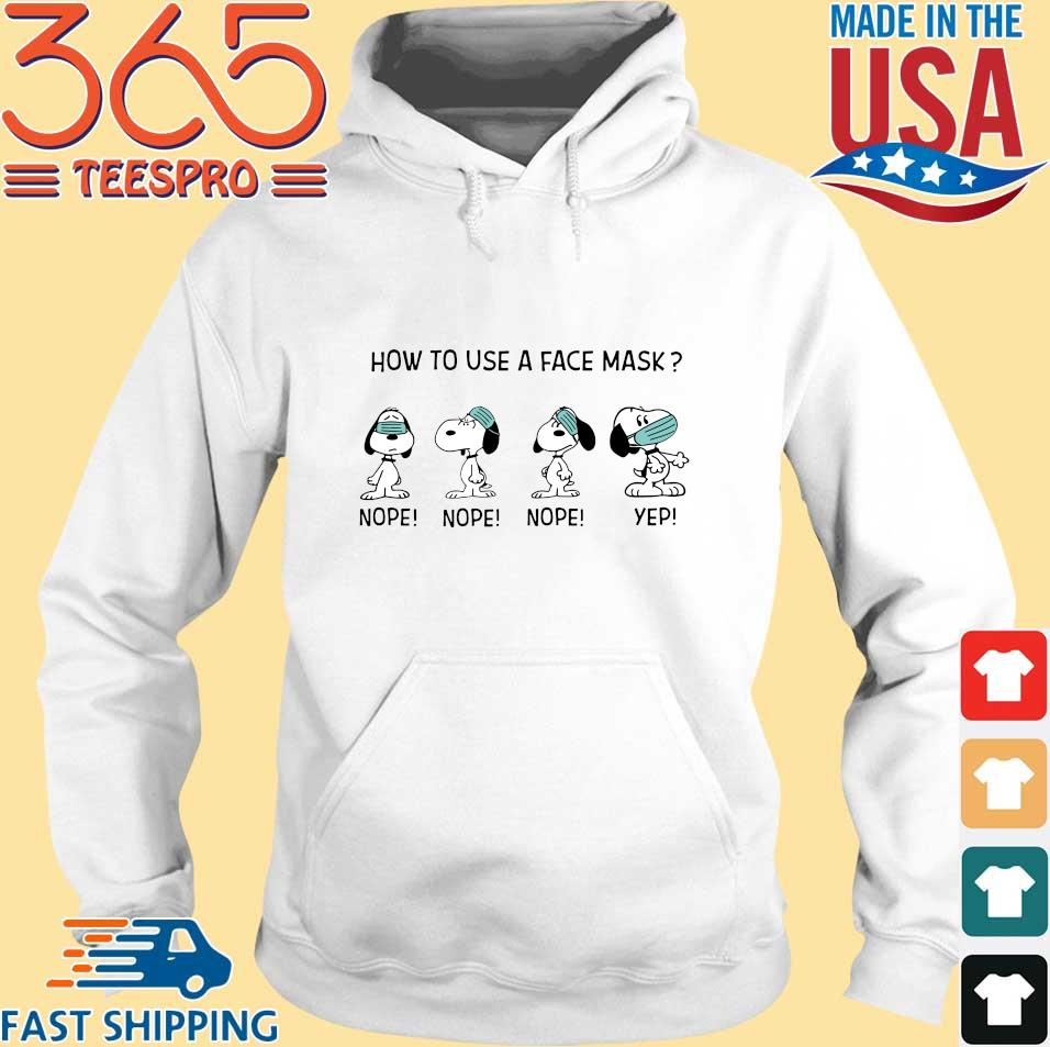 Snoopy how to use a face mask s Hoodie trang
