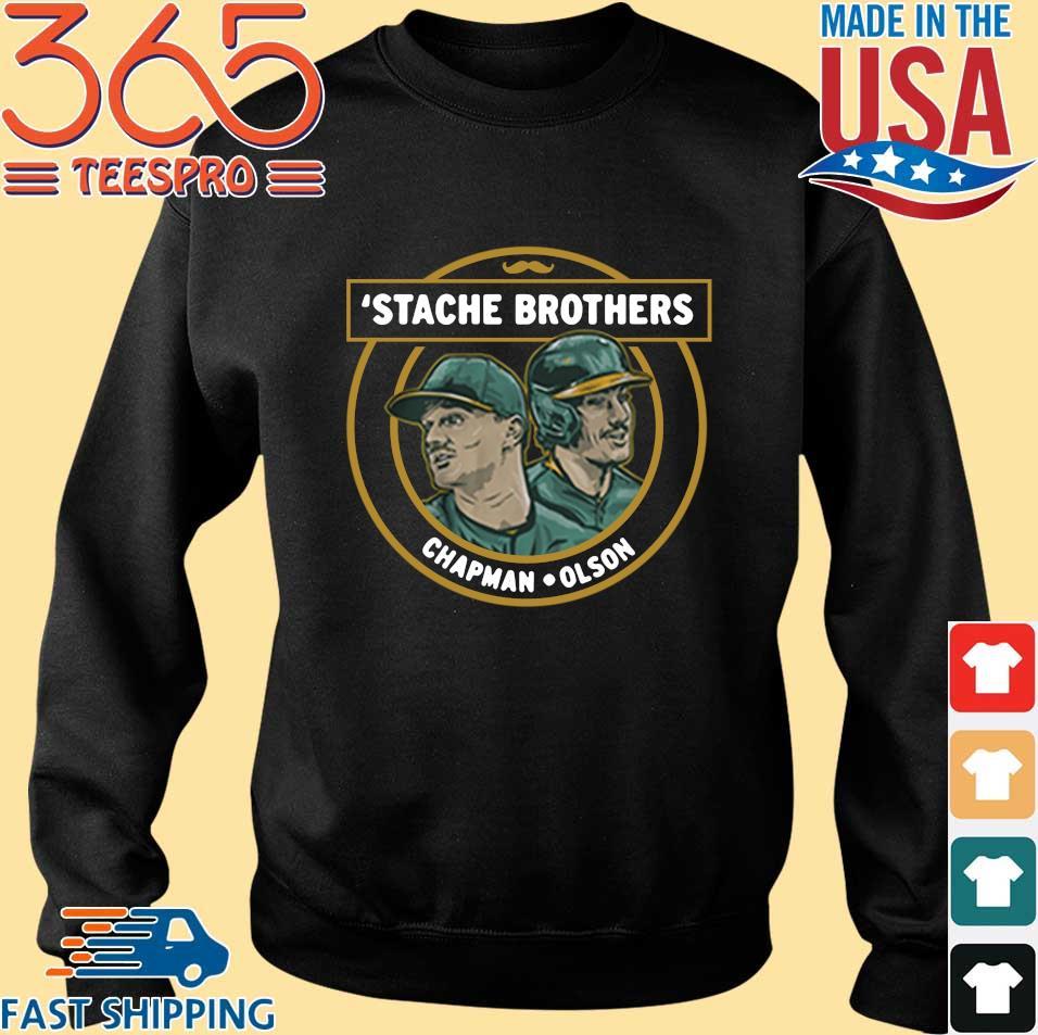 'Stache brothers Matt Chapman and Matt Olson s Sweater den