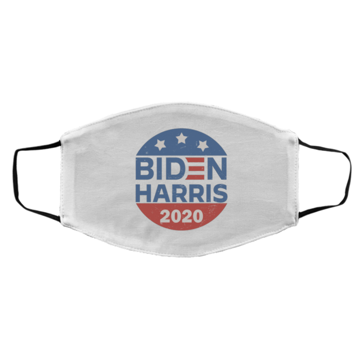 Biden Harris 2020 Washable Reusable Custom Printed Cloth Face Mask Cover - President 2020 Election Gifts, White, Cloth Face Cover – Medium/Large